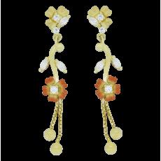 Casting Fancy Flower Hangings Balls Stud