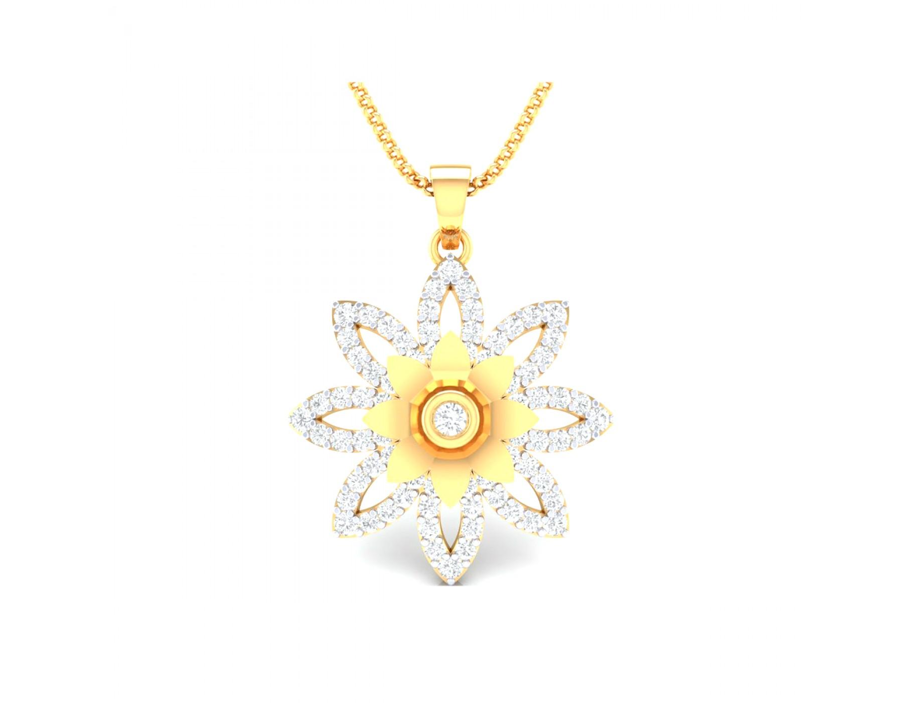 Sree Kumaran Alluring Exclusive Fancy Pendant 22kt Yellow Gold