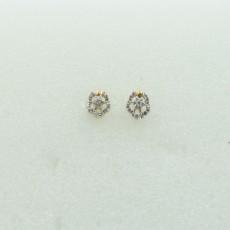 18K Gold  Earring  Fancy Diamond Stud