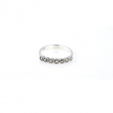Stoned Silver Ring