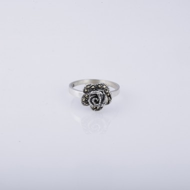 Flower Shaped GA Silver Ring for Ladies