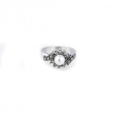 White Silver Ring for Women