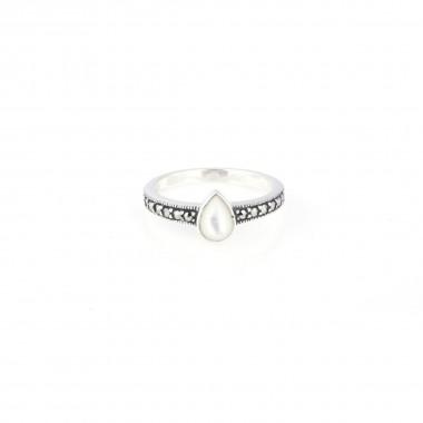 GA White Stone Ring for Women