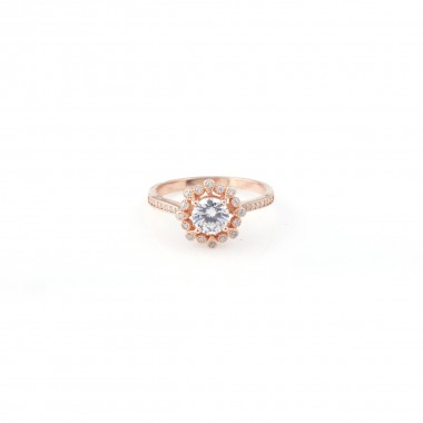 Silver Stone Ring For Women