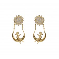 22kt Fancy Stud and Drops for Women's