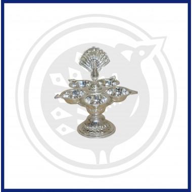 Silver 5 face Jyothi Lamp