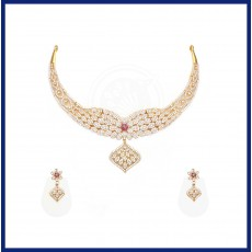 Tanujaa Zircon Necklace stud set