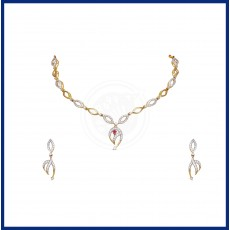 Tanujaa Zircon necklace-Stud set