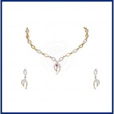 Tanujaa Zircon necklace-Stud set