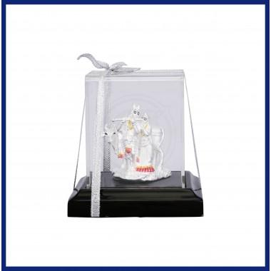 Sri Radhe Krishna silver piece gift idol