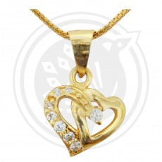 Double Heartin Pendant