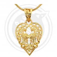 Double Peacock Heartin Pendant