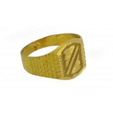 22k gold Gents Getti TV Ring