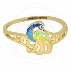 Fancing Peacock Ring