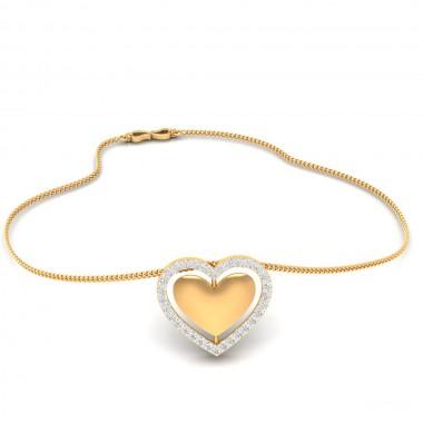 Heart-in cross pendent 22k gold