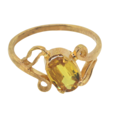 ladies Realstone 22k gold Ring