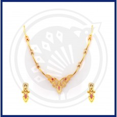 Tanujaa Fancy Necklace Stud Set