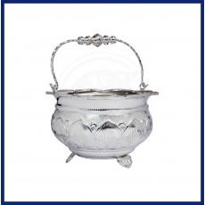 Silver Divine Flower Basket
