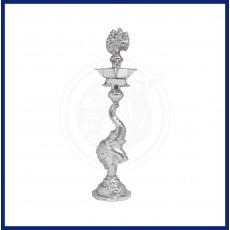 Silver Elephant Lamp