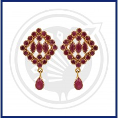 Ruby Real Stone Stud