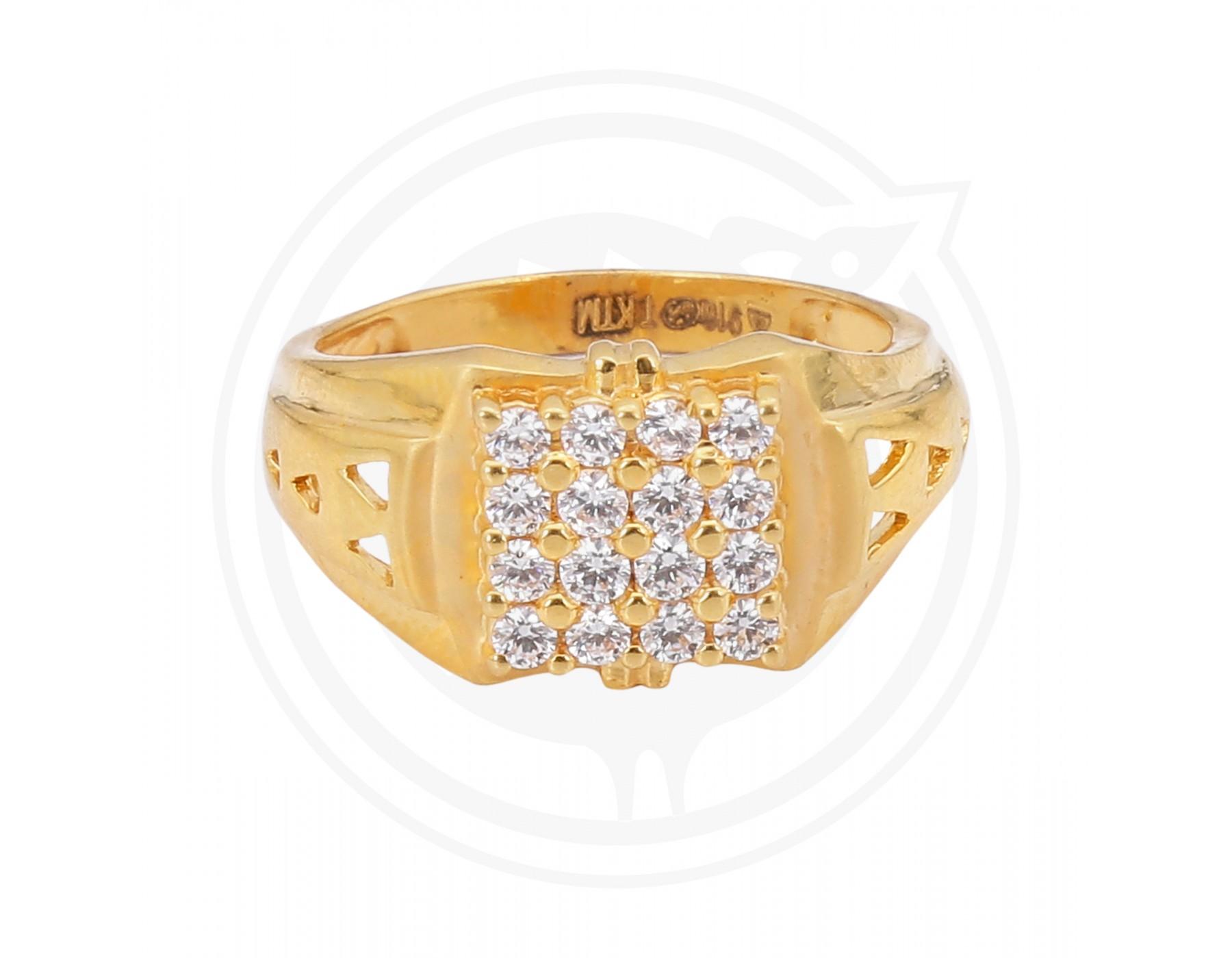 Sree Kumaran | Zircon Gents Gold Ring