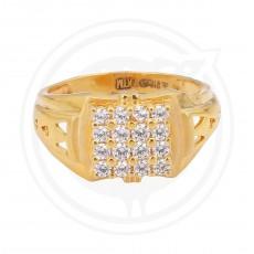Zircon Gents Gold Ring