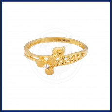 Ladies Single Stone Casting Flower Ring