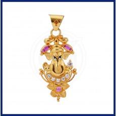 Sri Ganesha Gold Pendant