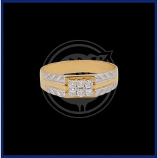 Gents Diamond Ring 18K