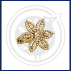 Fancy Zircon Flower Ring