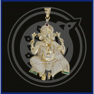 Sri Ganesh Diamond Pendant