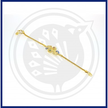 Fancy Dual-Peacock  Flower Bracelet