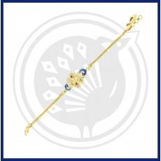 Fancy Double Peacock Casting Bracelet