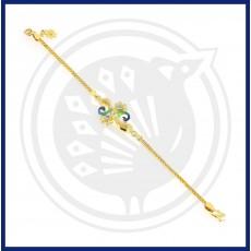 Fancy Double-Peacock  Flower Bracelet