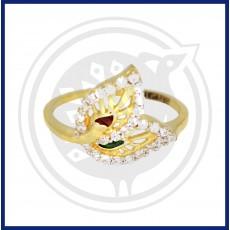 Fancy Zircon Leaf Ring
