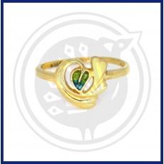Fancy Heart-in Leaf Ring