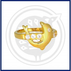 Fancy Dolphin Zircon  Ring