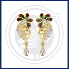 Fancy Enamel Casting Drops Stud