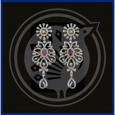 Fancy Diamond Stud & Drops 18K