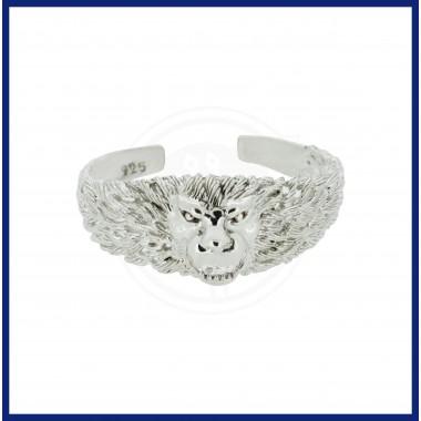 Silver Lion Bracelet for Gents