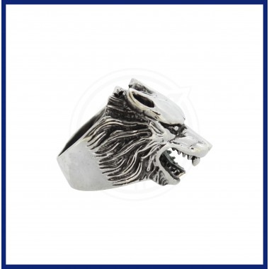 Silver Fox Face Ring for Men