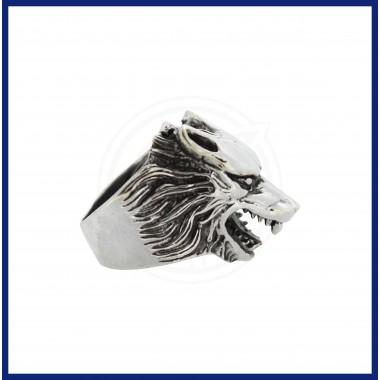 Silver Fox Face Ring for Men