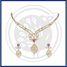 Tanujaa Fancy Zircon Necklace