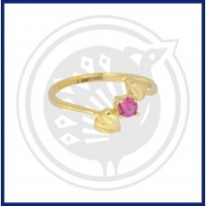 Fancy Double Heart-in Zircon Ring