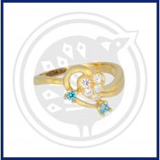 Fancy Heart-in Zircon Ring