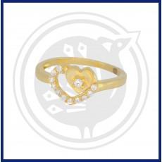 Fancy Double Heart-in Ring