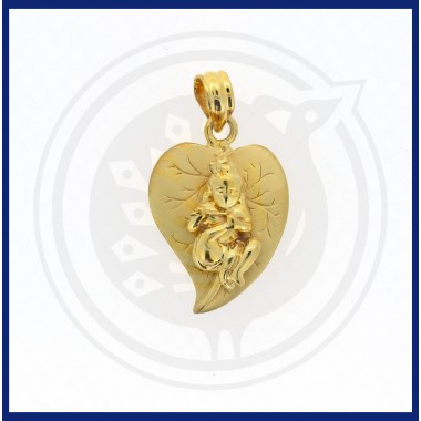 Casting Leaf Baby Krishna Pendant