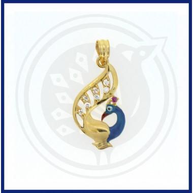 Casting Enamel Peacock Pendant