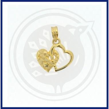 Casting Double Heartin  Pendant