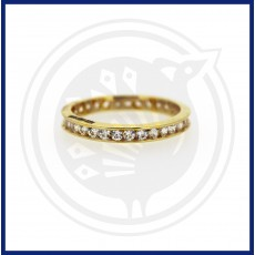 Casting Zircon Circular Ring